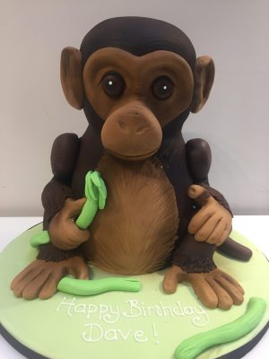 3D Monkey Birthday Cake