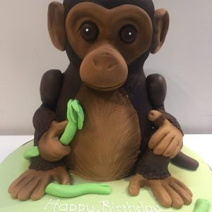 3D Monkey Birthday Cake
