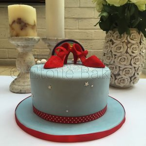 Red Dancing Shoes Cake