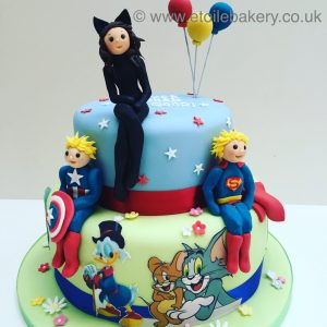Catwoman and Avengers Birthday Cake