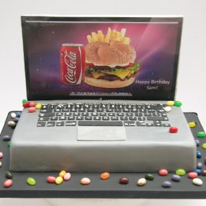 MacBook Pro laptop cake