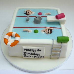 Swimming Pool Birthday Cake