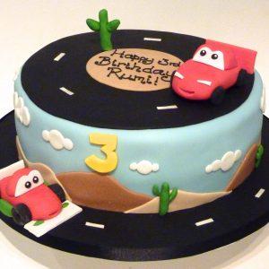 Lightening McQueen Car Birthday Cake