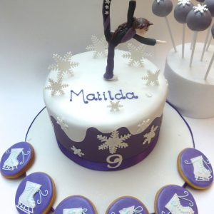 Ice Skating Cake, Cookies and Cake Pops