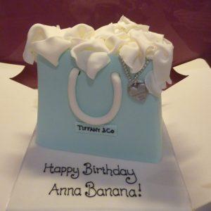 Tiffany Bag Birthday Cake